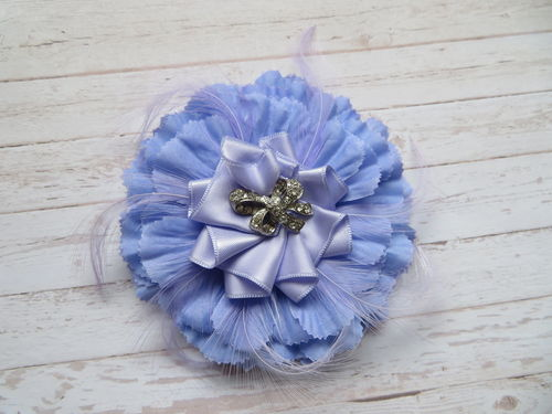 Periwinkle Carnation Brooch