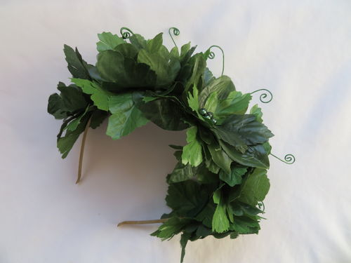 Green Leaf Flower Crown